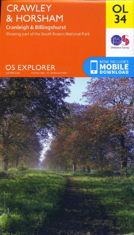 OS Explorer OL 34 Crawley & Horsham
